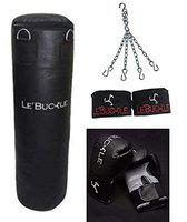 Le Buckle Boxing Kit Set(10 oz Gloves, handwraps, Unfilled Bag with Chain)