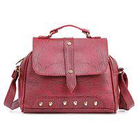 Ankita Fashion World Women's Shoulder, PU Sling Handbag (Maroon)