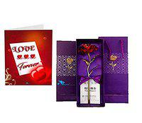 Sky Trends Artificial Rose And Gift Box- (Multicolour, 1 Piece)