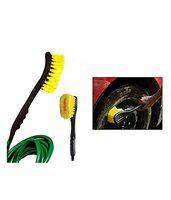 DELHI TRADERSS Delhitraderss 2 in1 Car Cleaning Brush with Water Spray