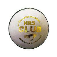 HRS Club Cricket Leather Ball - White