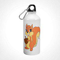 iKraft Cute Squirrel Printed Sipper Bottle for Kids 600ml (White)