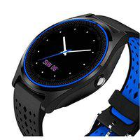KEMIPRO Bluetooth Smart Watch with Camera, Sim Card and Multilanguage Support, Blue and Black Compatible with All Smartphones