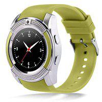 KEMIPRO Bluetooth Smart Watch with Camera, Sim Card and Multilanguage Support, Green Color Compatible with All Smartphones