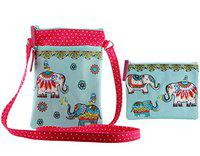 Pinaken Women And Girls Jumbo-Trunk Crossboby Sling Bag And Multipurpose Pouch