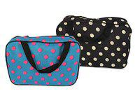 TIED RIBBONS Polyester Toiletry Bag (Set of 2) (Multicolored_TR-Imp18-Q3-ToiletryOrg004)