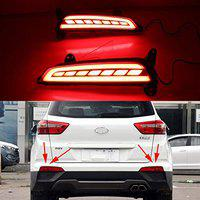 Carmart CRETA Rear Bumper DRL Reflector Back Light for Creta upto2017 with matrix Indicator