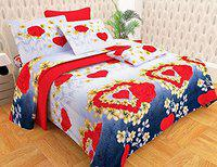 Dreams Home Polyester 180 TC Bedsheet (Double_Multicolour)