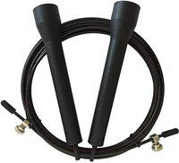 Fitguru Jump Skipping Rope for Men, Women, Adult & Children Use For Weight Loss, Kids, Girls, Children, Adult - Best in Fitness, Sports, Exercise, Workout with Handle Available ,, Best Quality Ropes (Multiple 8 Colors available) (Black)