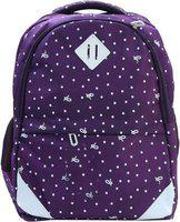 OKJI Enterprises Blue 18 Inches Polyester School Bag Pack with Rain Cover for Girls and Boys