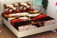 New panipat textile zone Polycotton 104 TC Bedsheet (Queen_Multicolour)
