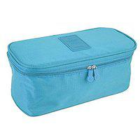 Everbuy Travel Handy Multi Utility Foldable Undergarment Inner wear Lingerie Pouch for Easy Travelling Portable Case Travel Organizer Storage Bag (Sky Blue)