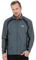 Plutus Men's Polyester Wind Cheater (grey)