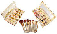 FIRSTZON 24 NUDE TUDE eyeshadow colors with make up brush set (Set of 3)