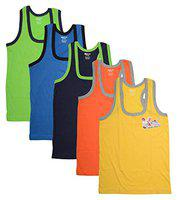 DORA Boys Cotton Cute Cool Vest Style 1510 (Color May Vary) (Pack of 5) (55 cm)