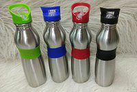 smile world Stainless Steel Water Bottle with Straw, 600 ml, Mix Colour