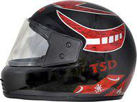 Motofly Galaxy Great Strong Full Face ISI APPROVED Motorbike Helmet (For- Men,Boys Colour- Black Grapic-Red Size- L)