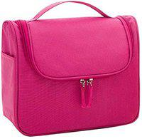 CONNECTWIDE Fabric Toiletry Bag (Baby Pink_CW-787)