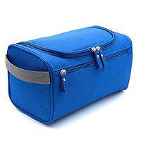 CONNECTWIDE Pro-traveller Hanging Toiletry Bag Travel Case for Man or Woman with Hanging Hook Organizer Accessories Organizer Accessories, Shampoo, Cosmetic, Personal Items, Healthcare Bag (Blue)