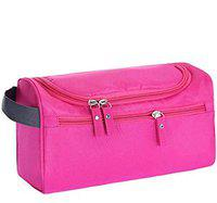 CONNECTWIDE Pro-traveller Hanging Toiletry Bag Travel Case for Man or Woman with Hanging Hook Organizer Accessories Organizer Accessories, Shampoo, Cosmetic, Personal Items, Healthcare Bag (Pink)