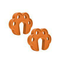 Safe-O-Kid- Pack of 2 Fit All Sleek Design Strong Silicone Door Stopper- Brown