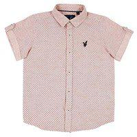Urban Scottish Boys Cotton Peach Printed Shirt
