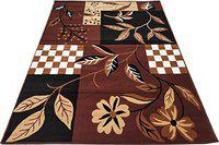 Firoz and Brothers Acrylic Carpet for Living Room Carpets, Center for Bedroom, 4x5 Feet (Brown)