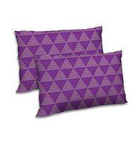 RADANYA Striped Printed Pillow Cover Set of 2 Purple Home Decoration Rectangular Bedding Throw Cushion Case 12x18 Inch