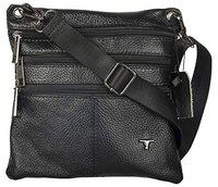 Bulchee Premium Genuine Leather Cross Body Sling Bag Unisex and Ideal for Travelling | Ideal for Travel and to Store Quick Access Belongings | Black Colour | TMHBL076.1-18