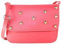Fargo Focus PU Leather Women's And Girl's Sling Bag (Red_FGO-101)