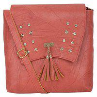 Aasfa Pink Latest Design Crossbody Chain Sling bag for Women and Girls College Office/Handbag/Chained Sling belt stylish latest Bag (PINK)