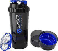 Udak Good Quality 500ml Capacity Blue Colour Spider Shaker Bottle | Protein Shaker | Sipper Bottle | Gym Bottle for Health & Fitness