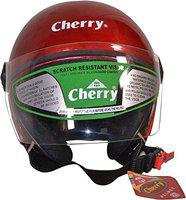 Cherry Jupiter Men and Women Open Face ISI Certified Modular Bike and Scooty Helmet (Red)