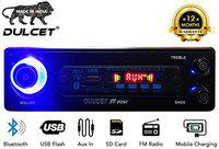Dulcet DC-ST-9091 Double IC High Power Universal Fit Mp3 Car Stereo with Bluetooth/USB/FM/AUX/MMC/Remote & Built-in Equalizer with Bass & Treble Control[Also, Includes a Free 3.5mm Aux Cable]