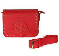 Noam Snow Flake Sling Bag For Women And Girls (Red)