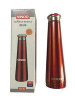 Vinod Inside Stainless Steel Water Bottle for Office and Home (Red,480ml)