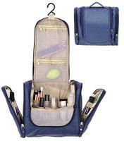 Tradevast Travel Toiletry Bags,Unisex Washable Bathroom Storage Hanging Cosmetic Multi Compartments, Portable Hanging Hook, Waterproof Lining Travel Toiletry Kit Travel Toiletry Kit (Blue) |HQ