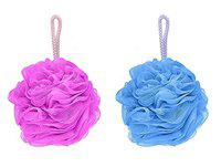 AASA Soft Bathing Accessories, Soft Loofah Sponge for Bathing for Women for Men Multicolor Set of 2Pcs Pack of 1 (Loofa)