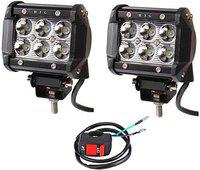 DELHI TRADERSS Cree 12 LED Bike Fog Light Assembly (White, 36 W) -Set of 2