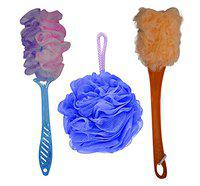 Raaya Bathing loofah And Soft Bristle Bathing Brush, 15 Gram, Pack Of 1
