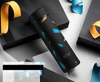 House of Sensation Black Color Flask for Cold & Hot Drink Double Wall Vacuum Insulated Stainless Steel Water Bottle, Travel Thermos Flask- 450 ml