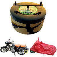 BIKEBLAZER Semi Automatic Royal Enfield BloodRED 350 Classic Bullet 500 Bike Body Cover Water Resistant