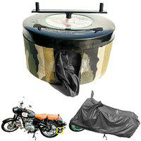 BIKEBLAZER Semi Automatic Bike Cover Water Resistant for Royal Enfield Classic 350, 500, Bullet 350, 500 Water Resistant Military Cover