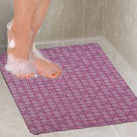 Kuber Industries Exclusive Non Slip Bathroom Mat,Bathtub Mat,Shower Mat,Bath Mat with Suction Cups (Pink) Checkered Design Product Code-AB30