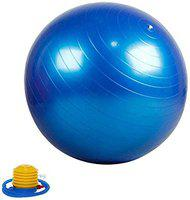 Arnav Anti Burst Gym Ball Swiss Ball with Foot Pump for Total Body Fitness and Abdominal Toner Exercise Workout Yoga Ball,(Colour May Vary) (55 cm)
