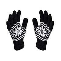 Apex Men's and Women's Woollen Stretchable Hand Gloves (Black , Free Size)