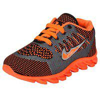 Super Boys Orange Synthetic Running Shoes for Kids (Size :11)