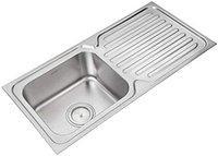 Prestige Drain Board Stainless Steel Vessel Sink(Silver)-42X20X8