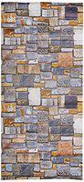 Jaamso Royals PVC Vintage Stone Peel and Stick Wallpaper Sticker (100 X 45 cm, Multicolor, Self Adhesive Wallpaper)