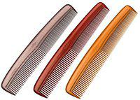 LILY Dressing Hair Combs for Women - Pack of 3 , Multicolor